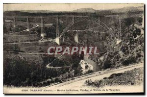 Postcard Old Cantal Garabit Viaduct Road Ruins and Valley of Truyere