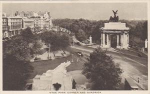 London Hyde Park Corner and Quadriga Tuck