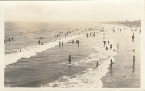 RP; OCEAN PARK , Maine , PU-1957; Beach Scene