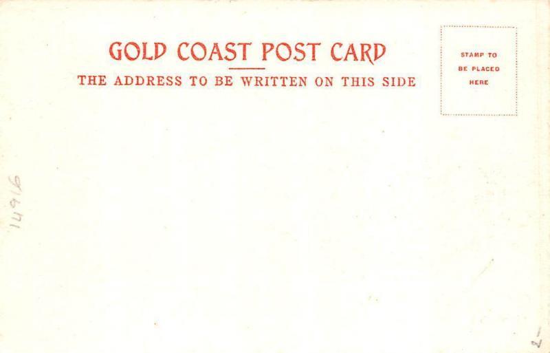 Ghana Gold Coast Fetish rock Accra postcard