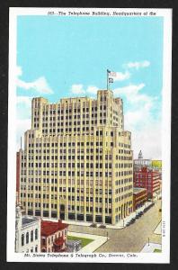 Headquarters Telephone Building Denver Colorado Unused c1920s