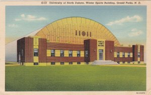 North Dakota Grand Forks Winter Sports Building University N D Curteich sk6998