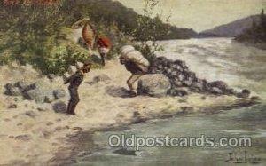 Artist John Innes, Western, Cowboy, Indian, Postcard Post Card unused