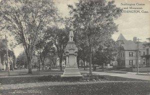 LP03 Civil War Monument Southington Connecticut Postcard Centre