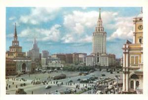Russia Moscow 1950s Komsomolskaya Square