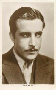 Actor John Boles real photo postcard