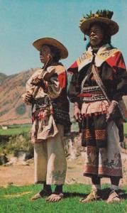 Mexico Mexican Nayar Mountains People Tribe Fashion Postcard
