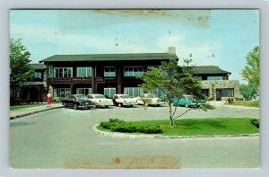 Wilson Lodge Oglebay Park, Classic Cars, Wheeling West Virginia Vintage Postcard