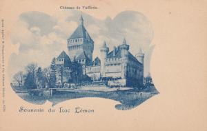 Souvenir du Lac Leman , Switzerland, 1890s ; Chateau de Vufflens