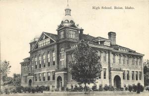 Printed Postcard High School Boise Idaho ID Ada County 1907-1915