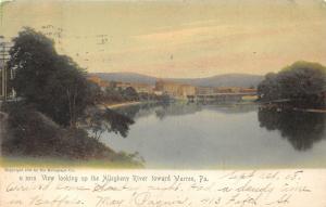Warren Pennsylvania~Allegheny River View Toward Town~1904 Rotograph Postcard