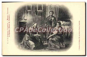Postcard Old Lorraine D'Habits Customs Autretois the witch