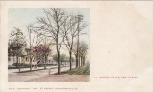 Louisiana New Orleans St Charles Avenue Private Mailing Card sk3748