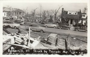 RP: BUNKERHILL , Illinois , 1948 ; Tornado , Street