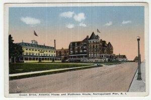 Narragansett Pier, R.I., Ocean Drive, Atlantic House and Mathuson House