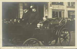 BOER WAR, President Paul Kruger and Delegate Cornelius Hermanus Wessels in Paris