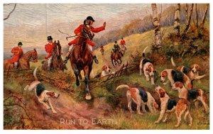 Dog  ,  Run to Earth  , ( Fox Hunt )