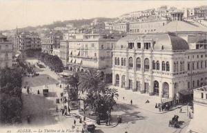 Le Theatre Et La Place Bressons, Alger, Algeria, Africa, 1900-1910s