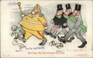 Gene Carr Comic - The Day the Dutch Lead the Irish c1905 Postcard