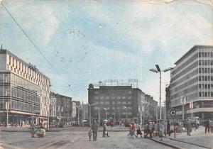 Poland Old Vintage Antique Post Card The Market Place 1966