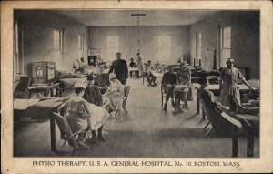 Boston MA General Hospital #10 c1910 Postcard PHYSIO PHYSICAL THERAPY #1