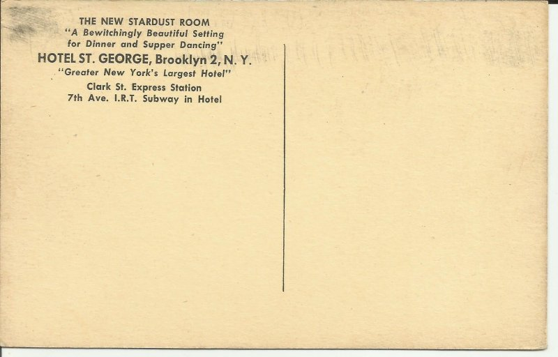 Brooklyn, N.Y., Hotel St. George, The New Stardust Room