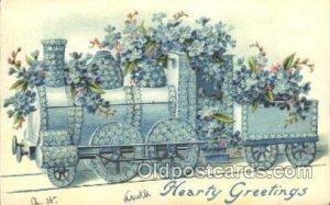 Train Locomotive  Steam Engine 1908 light wear close to perfect, light writin...