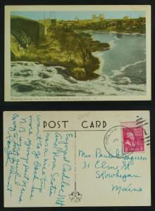 Reversing falls Saint John pmk Ridlonville Maine 1953