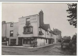 Kent; Canterbury, The Flying Horse Inn, Dover St, 1866 Repro PPC, Unposted