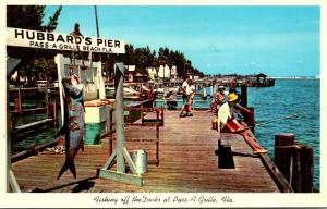 Florida Pass-A-Grille Hubbard's Fishing Pier 1965