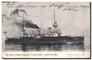 Old Postcard Boat War The Breastplate of Saint Louis & # 39escadre