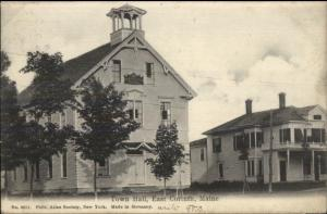 East Corinth ME Town Hall c1910 Postcard