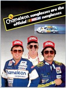 1984 Chameleon Sunglasses Dale Earnhardt Nascar Print Ad N1