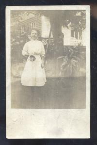 RPPC FOXBURG PENNSYLVANIA PA. PRETTY WOMAN REAL PHOTO POSTCARD SHARPSBURG