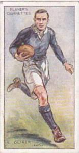Player Vintage Cigarette Card Footballers 1928 No 35 E Oliver Batley
