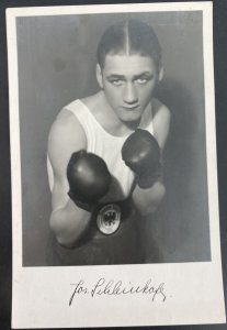 Mint Real Picture Postcard Jos Schleinkofer German Boxer Olympic Medal 1932