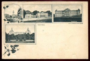 dc1720 - GERMANY Gotha Postcard 1900s Litho Multiview Market Place