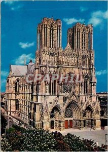 Postcard Modern Champagne Reims (Marne) Facade of the Cathedral (XIII Century)