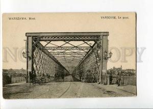 271107 POLAND WARSZAWA bridge Vintage Chlebowski postcard
