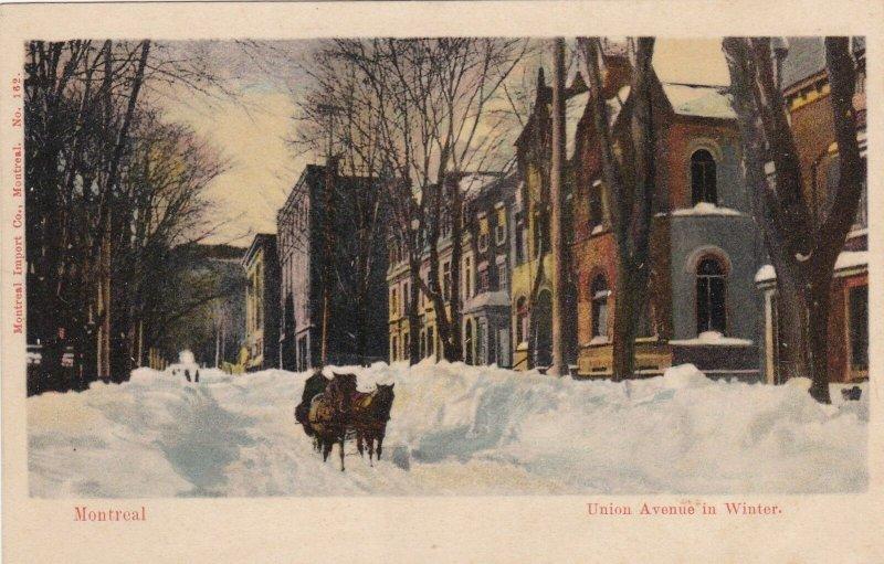 Canada Montreal Union Avenue In Winter sk4639