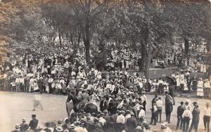 Washington Iowa~Frey's Studio~Booster Days Crowd~Brighton?~July 1910 RPPC