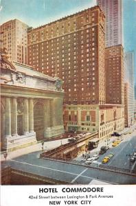 USA New York City Hotel Commodore 42nd Street Lexington Park Avenues