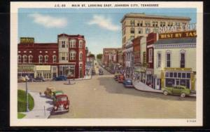 Tennessee colour PC Main St Looking East Johnson City unused