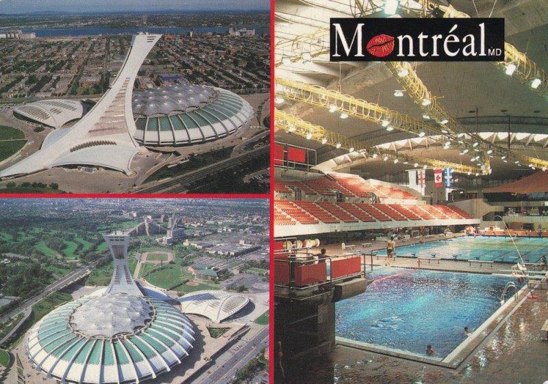 Montreal Olympic Stadium Swimming Pool Canadian Postcard