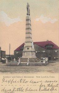NEW LONDON, Connecticut, 1905 ; Sailors & Soldiers monument