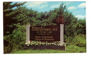Welcome Sign, Cooperstown, New York, Home of Baseball