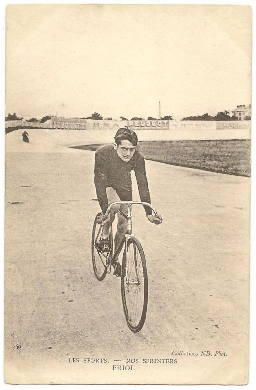 Emile Friol double world champion CYCLIST France vintage UB postcard