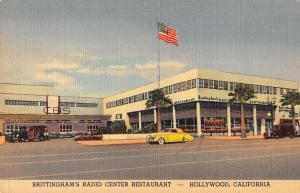 Hollywood California Brittinghams Radio Center Antique Postcard K36416