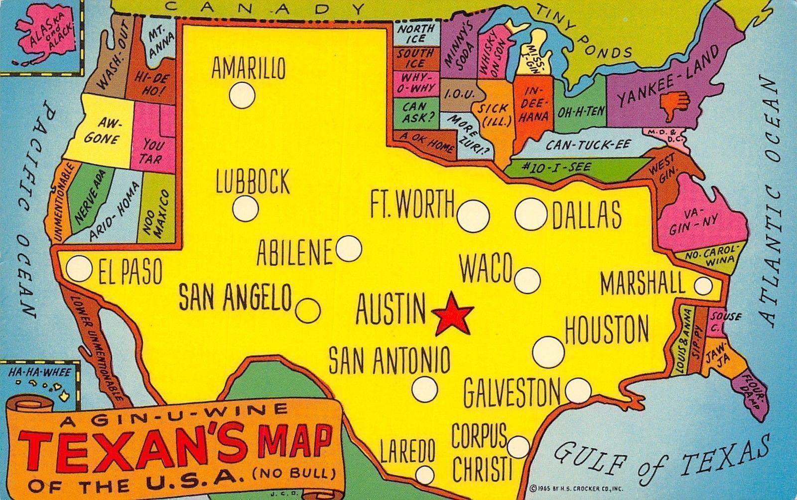 Texas~Gin-U-Wine Texan's United States Map Postcard~TX ... on texas map of monterey, texas indian map, texas map of arizona, texas map of dallas, texas county map, texas map of cordova, texas map of fremont, texas world map, texas map of paris, texas europe map, texas space, texas us map,