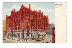 West Hotel, Trolleys, Minneapolis, Minnesota, 1900-1910s